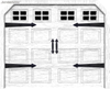 Wholesale magnetic garage door hardware kit-CK1001