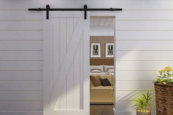 White colour for sliding barn door hardware